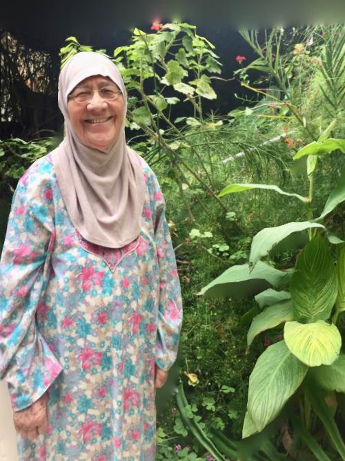Mama in her garden